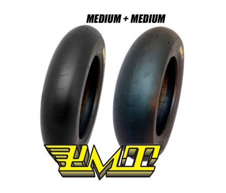 "Set PMT Slick 12"" 100/90-12 M 120/80-12 M"