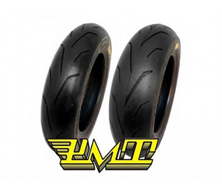 "Set PMT BlackFire 12"" 100/90-12 S + 120/80-12 S"